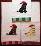Christmas Lights Labrador Kitchen Towel