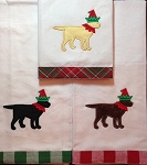 Christmas Elf Labrador Kitchen Towel