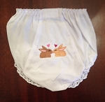 Kissing Bunnies Diaper Cover